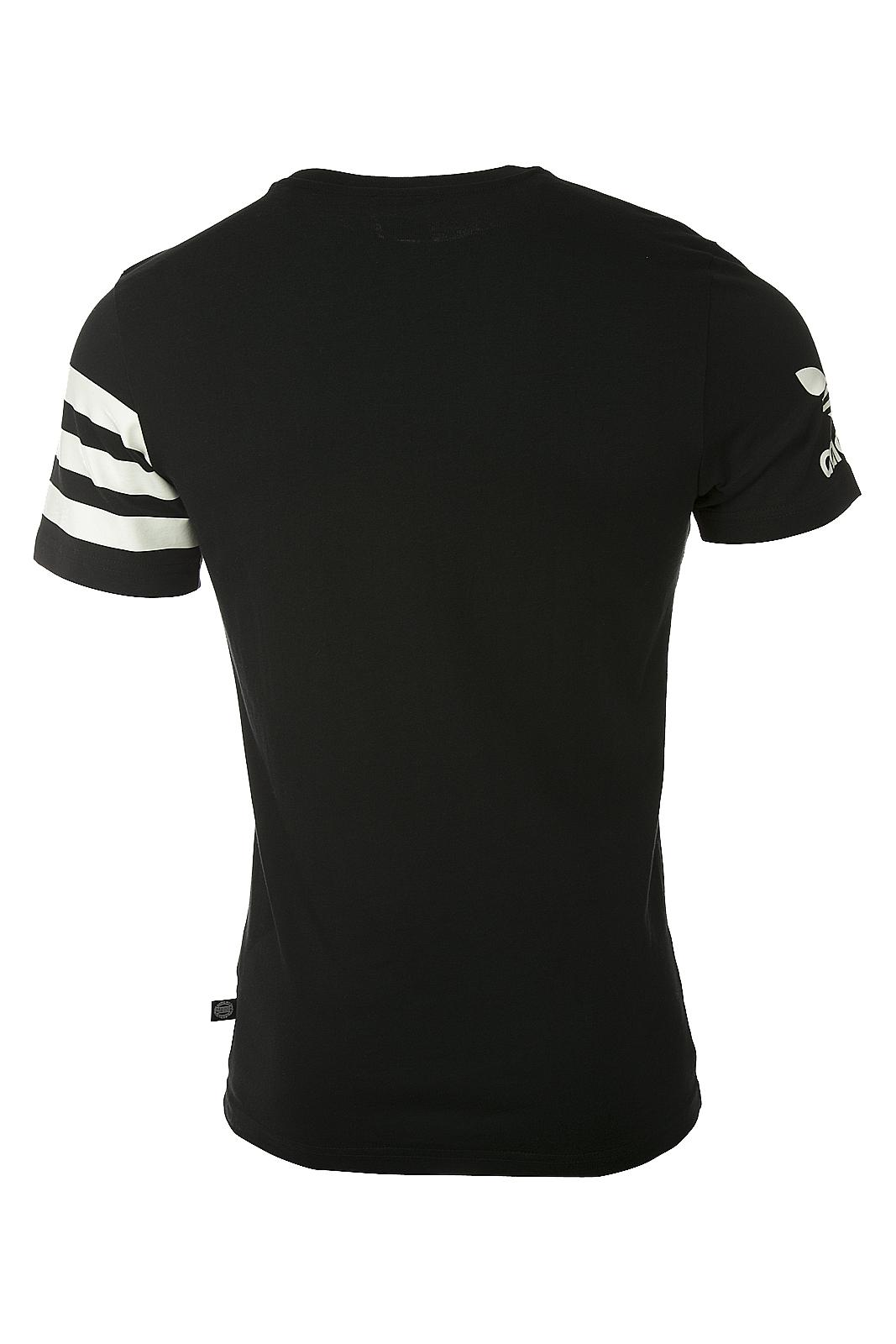 Adidas Original Mens Sports Essential Logo Tees S18630 Black Summer Tees