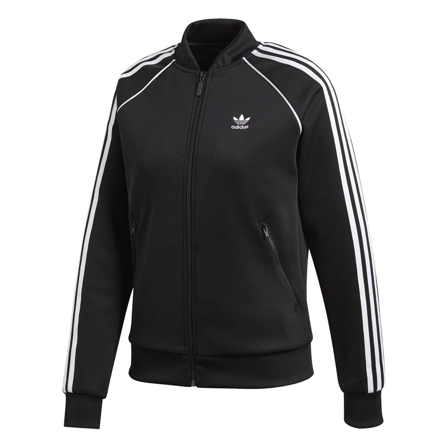 Adidas SST Track Jacket Womens Superstar Track Jacket CE2392 Black SST Track Jacket