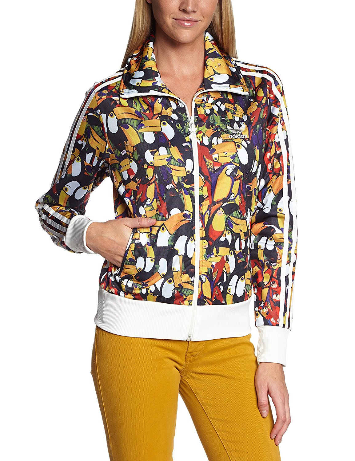 Adidas Originals Womens Damen Trainings Jacket Firebird Felpa Tucanario F78104 Jacket