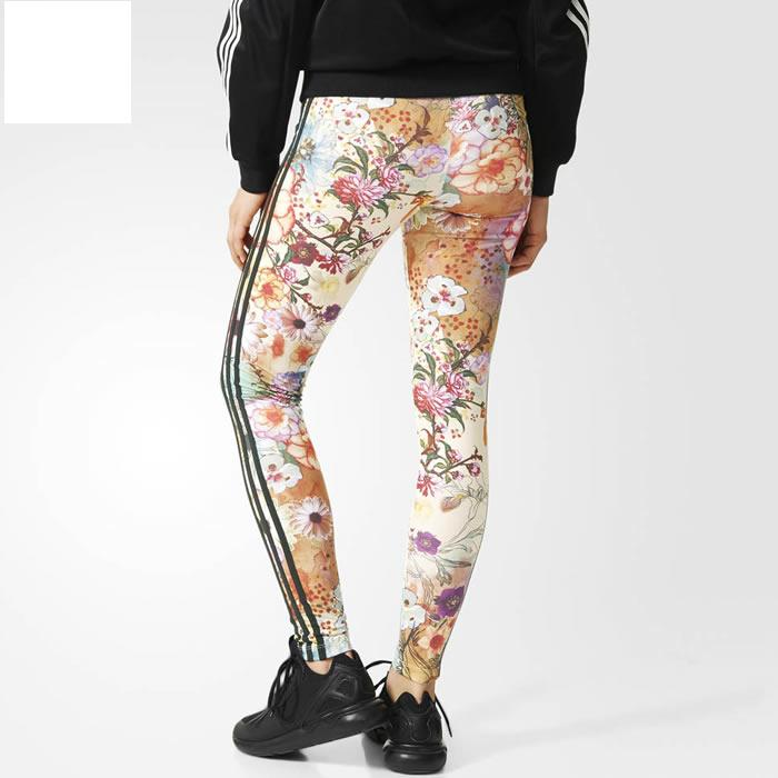 Adidas Originals Women Farm Confete 3-Stripes Leggings AJ8173 Multicolor Pants
