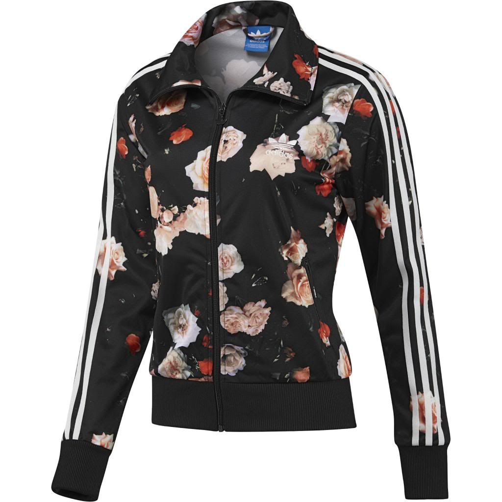 Original Adidas Firebird Track Top Roses Flower Print F78292 Women Jacket Few Leftover
