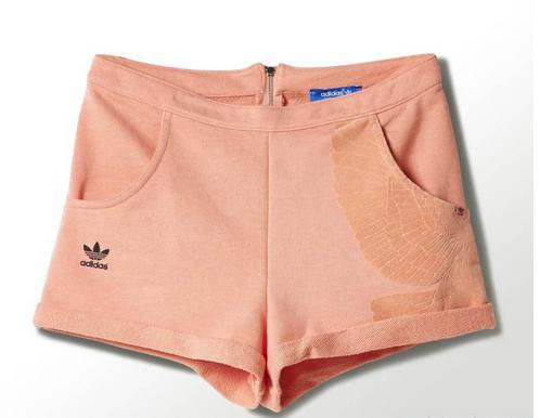 Adidas Originals Womens Rita Ora High Waist Shorts S11812 Peach Summer Shorts