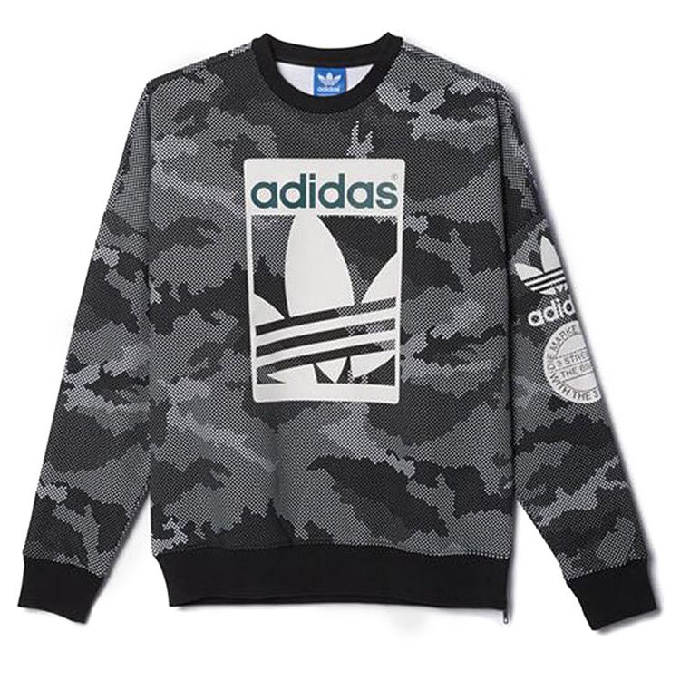Adidas Originals Street Graphic Crew Grey Swe...