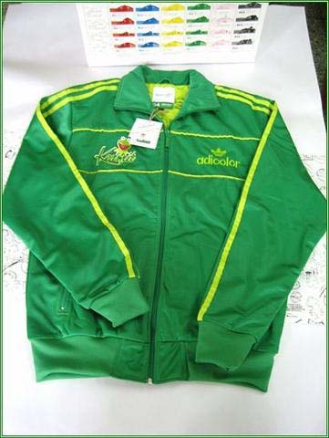 Original Adidas MENS G4 Jacket Green Kermit Jacket Adidas Adicolor Sport Embroidery Athletics Coat
