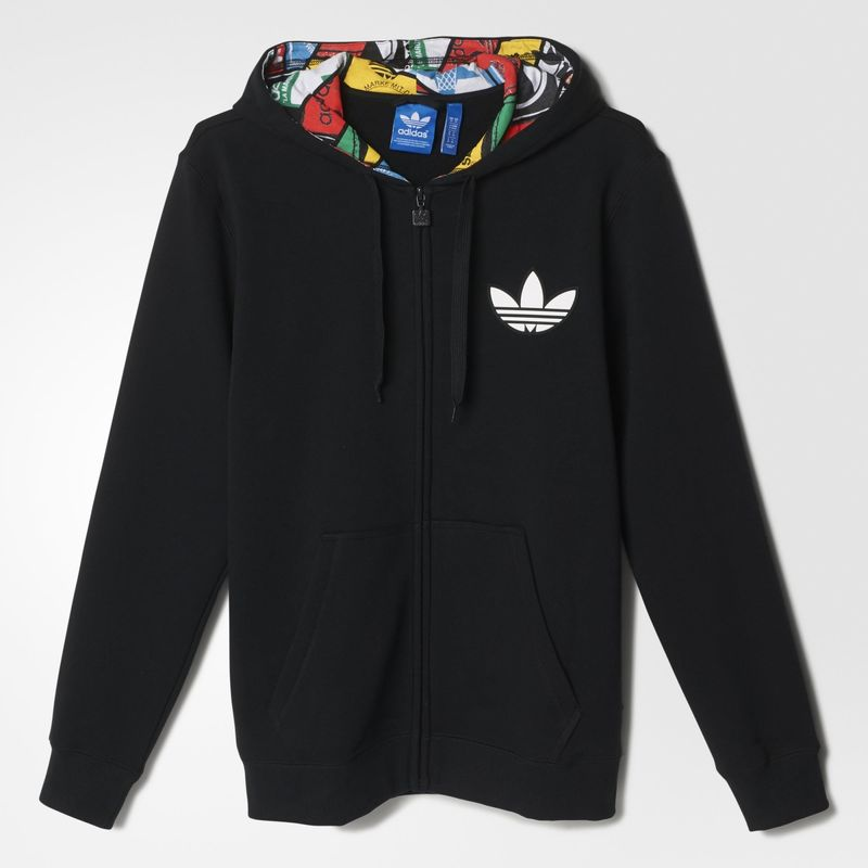 Adidas Originals Mens Hoodie Label Print Lini...