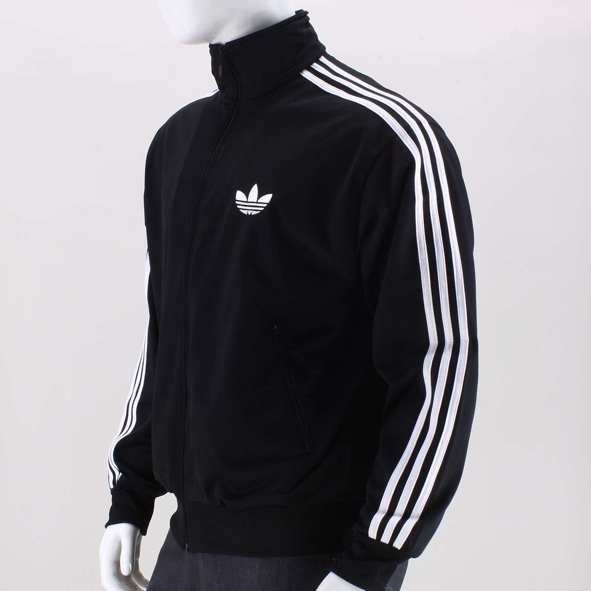 Original Adidas Mens Authentic Sports Track Top Firebird Jacket Black/White Trefoil Coat