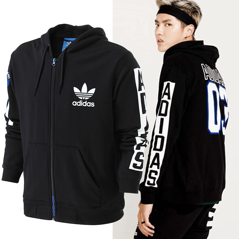 Original NEW Arrival 2017 Adidas Original Mens Jacket BQ0888 Zip Hoody