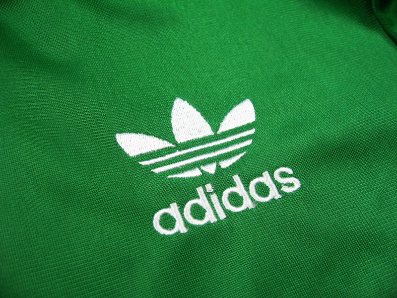 Original Adidas Womens Authentic Sports Track Top Firebird Jacket Green Trefoil Coat