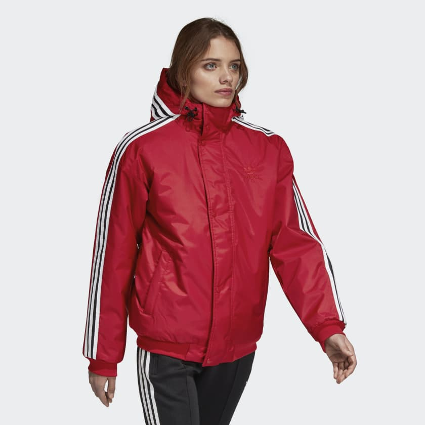 Adidas Womens SST Stadion Jacket Red DH4570 W...