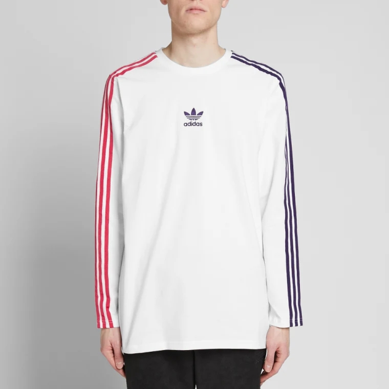 Adidas Originals Long Sleeve Stripes T-Shirt EC3671 Sportive Stripes Tees