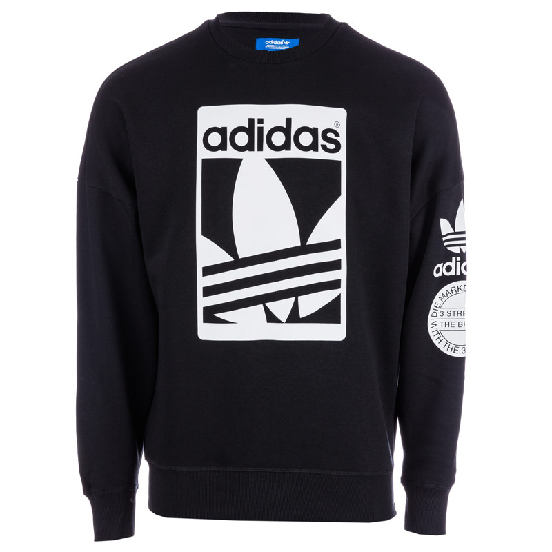 Original Adidas Black Graphic Swestershirt AB...