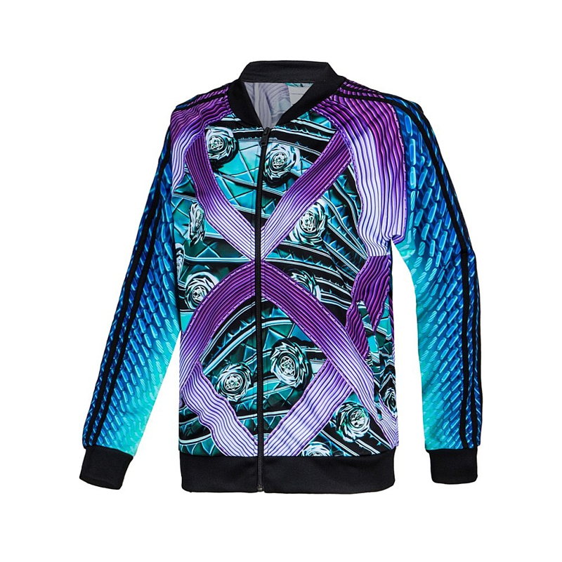 Adidas Mary Katrantzou Track TOP M62906 Adidas Printed Distance Track Jacket Green/Purple Jacket