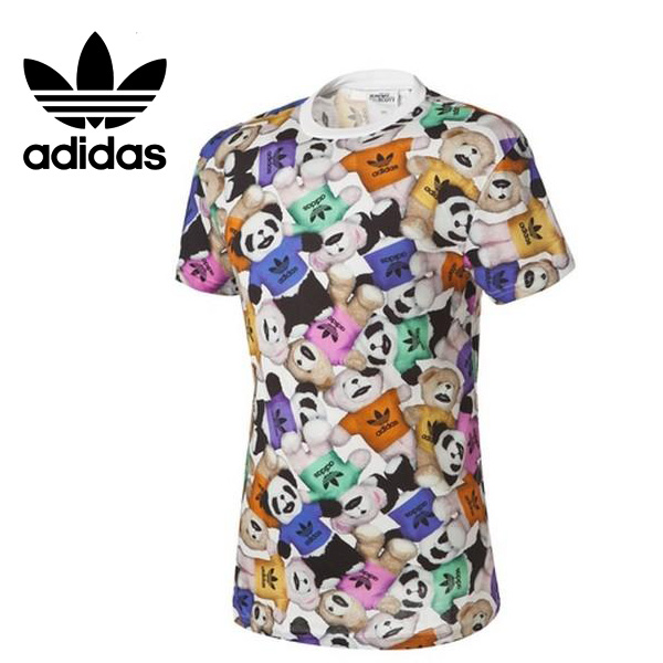 Original Adidas Mens Jeremy Scott Bear Big Ts...