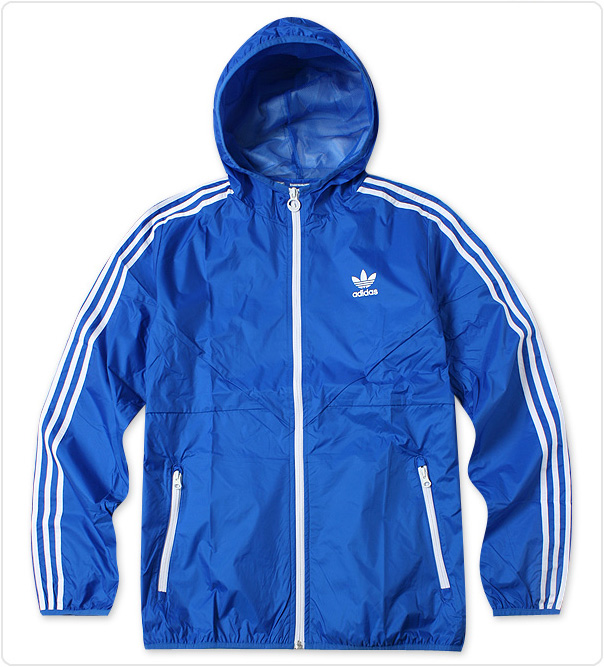 Adidas Blue Windbreaker Jacket O57648 Rain Ho...