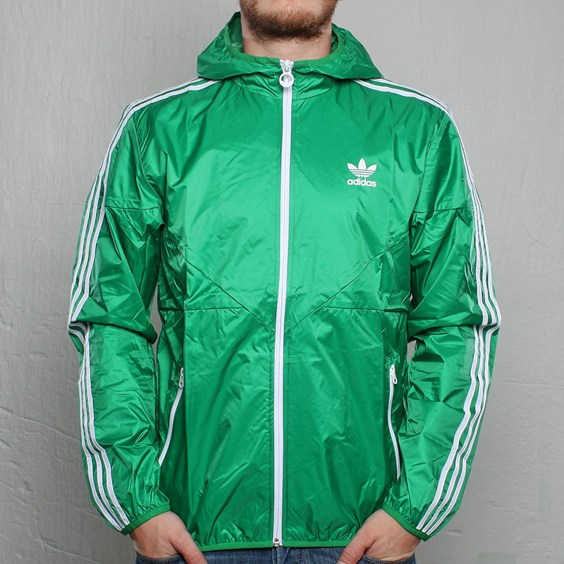 Adidas Mens Herren Windbreaker Colorado Green...