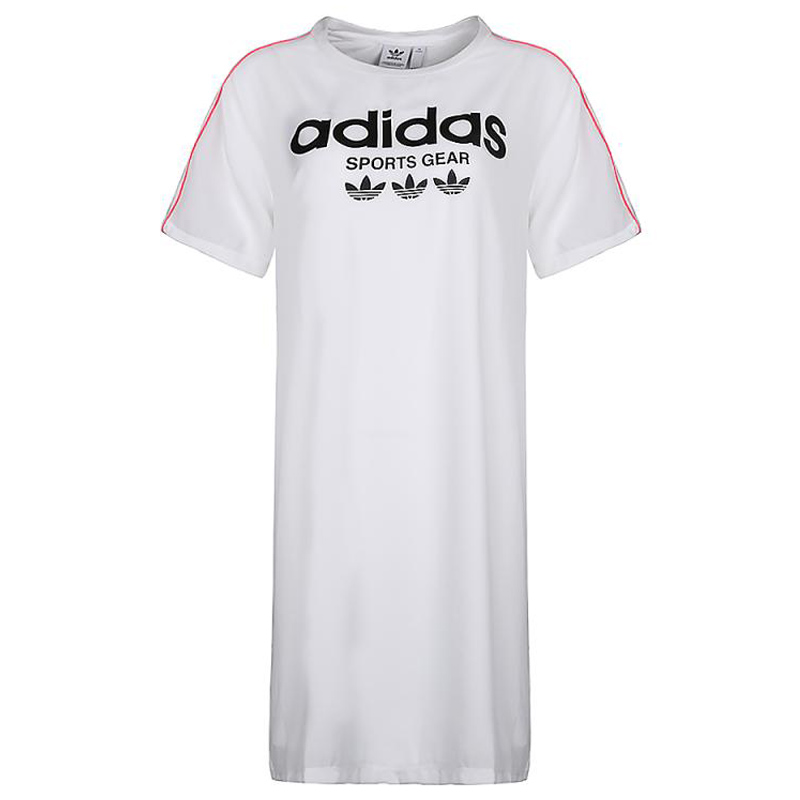 Adidas Traction Trefoil Tees CZ8333 Womens Dress White