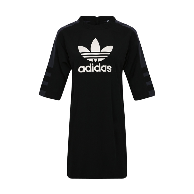 Adidas Originals Trefoil Tees Drees DP8593 Black Skirt