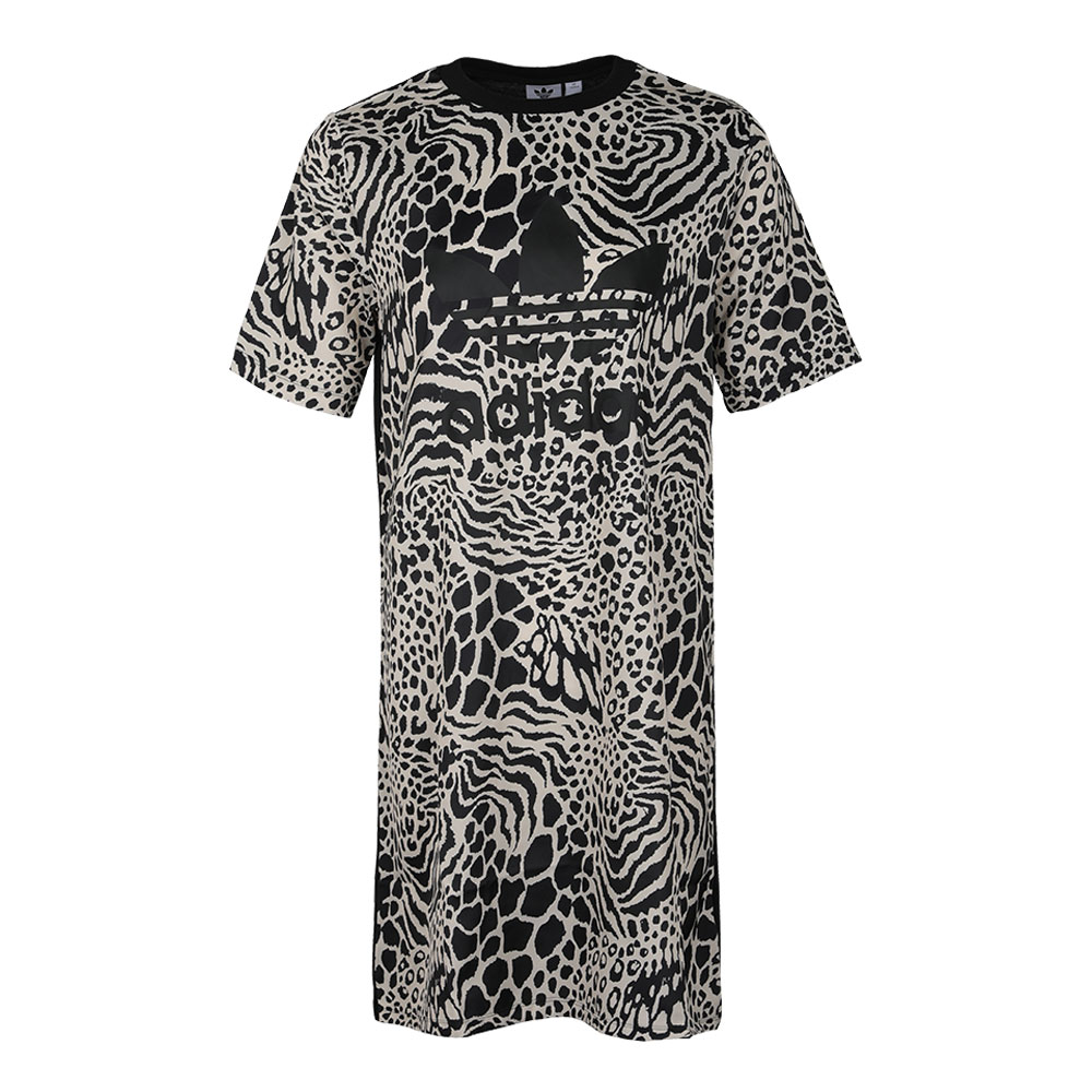 Adidas Allover Print Tees Dress DV0120 Animal Print Tshirt Skirt