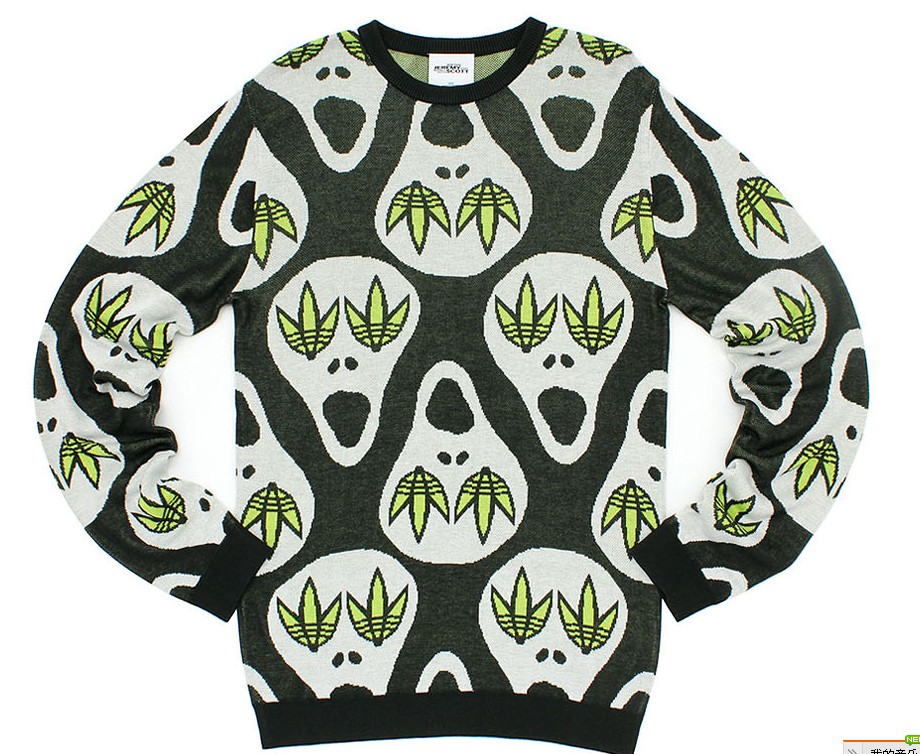 Adidas Original Sweater W61584 Jeremy Scott Skull Sweater