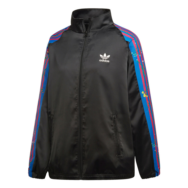 Adidas Originals Womens Track Top FL0023 Flower Farm Black Jacket