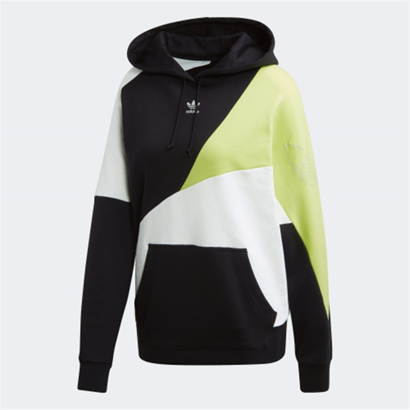 Adidas Originals Womens Colorblock Hoodie FR0557 Black Foot Locker Hoody