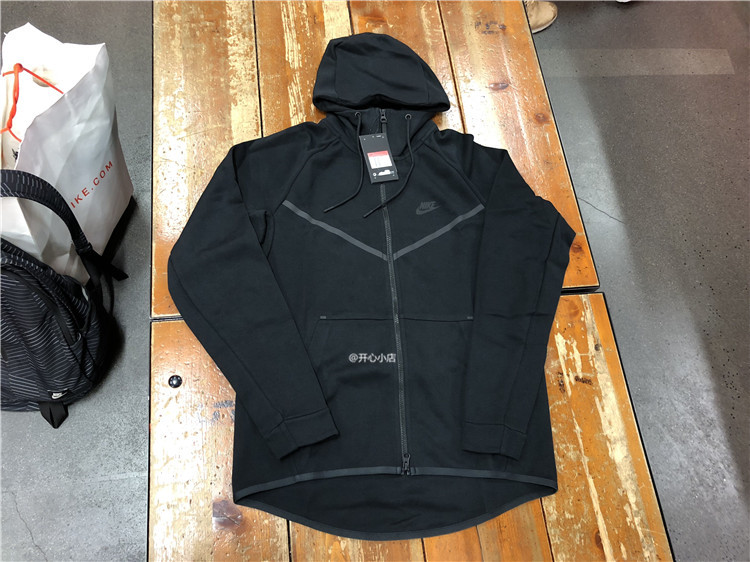 Nike Sportswear Windrunner 805145 TECH Fleece Hoody 2 Colors Grey/Black