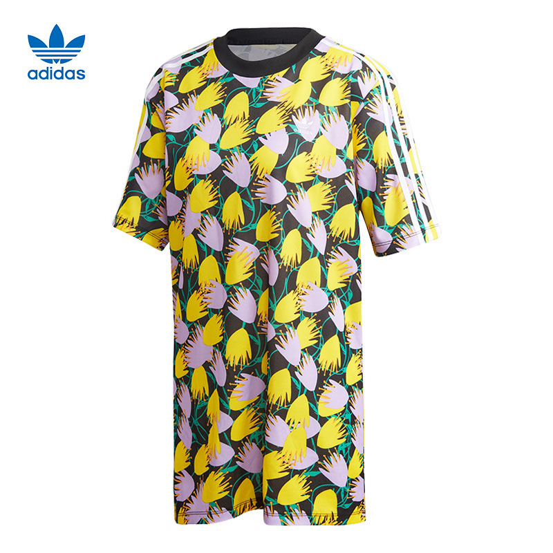 Original Adidas Bellista Tee Dress FL4087 Multicolor Summer Dress