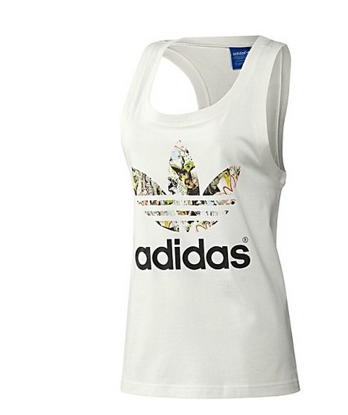 Original Adidas X Topshop Summer Tees White Tank M32387 Tanks