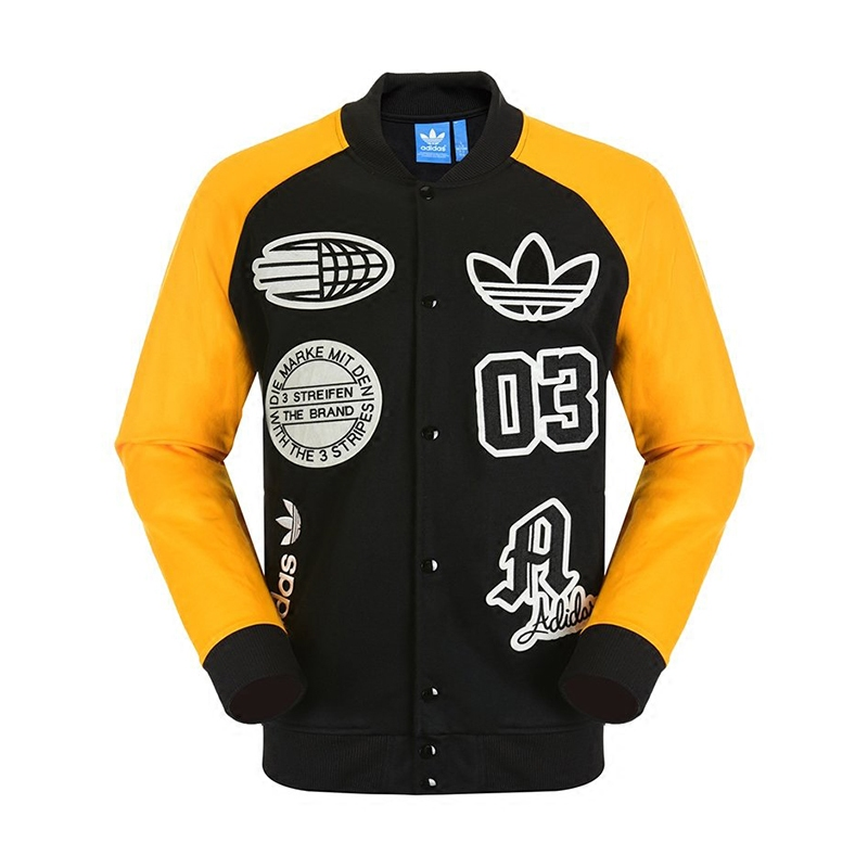 Adidas Logo Truck Top Stadium Jacket S27485 Yellow Jacket