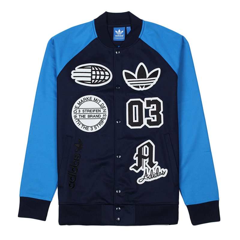 Adidas Logo Truck Top Stadium Jacket S27486 Blue Jacket