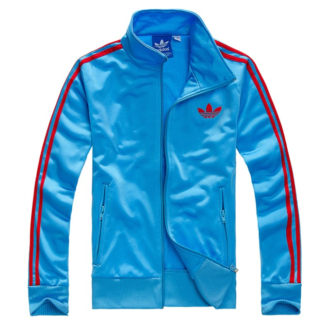 Original Adidas Mens Authentic Sports Track Top Firebird Jacket Blue/Red Trefoil Coat
