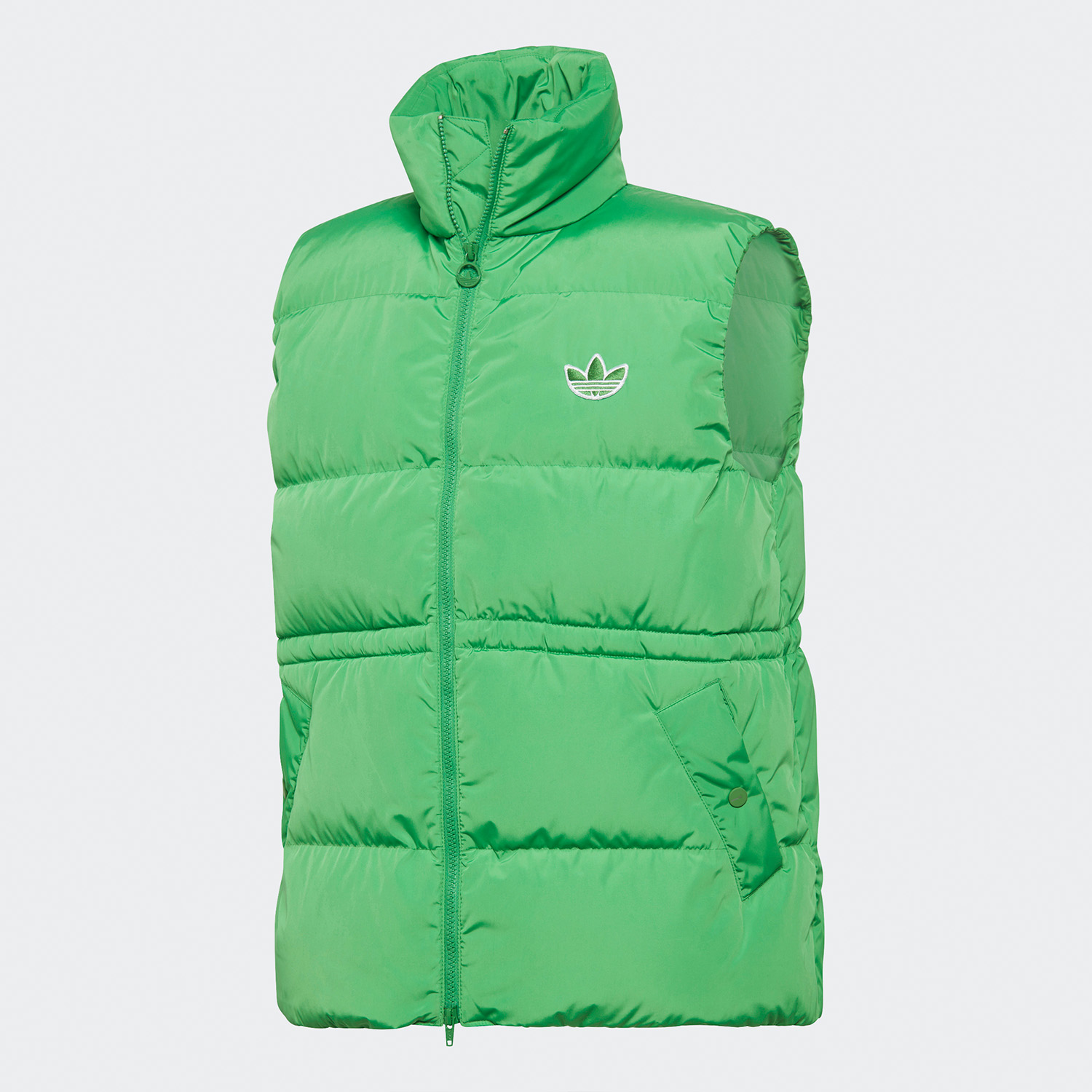 Original Adidas Womens Down Vest GD2521 Green Puffer Down Winter Coat Vest