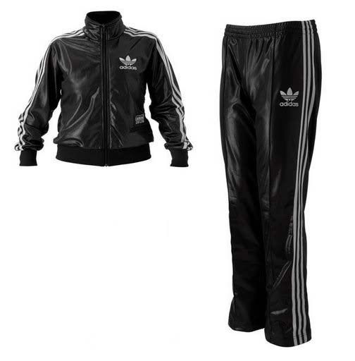 Adidas Chile 62 Rare Tracksuit Jacket Wetlook Shiny Black/Silver Suit