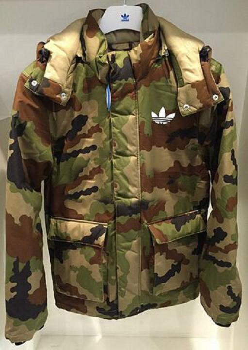 Original Mens Adidas Praeztige Down Jacket AB7856 Camo Trendy Winter Coat